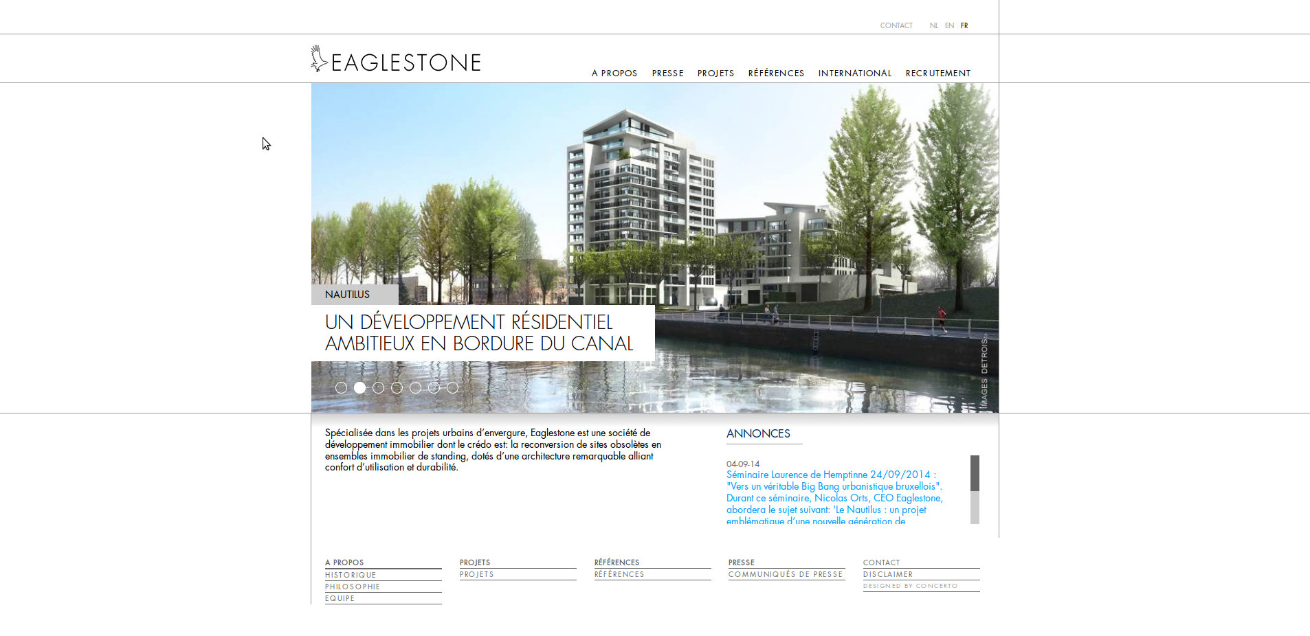 Le site d'Eaglestone